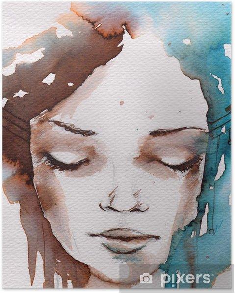 Poster Vinter, kallt porträtt - Stilar