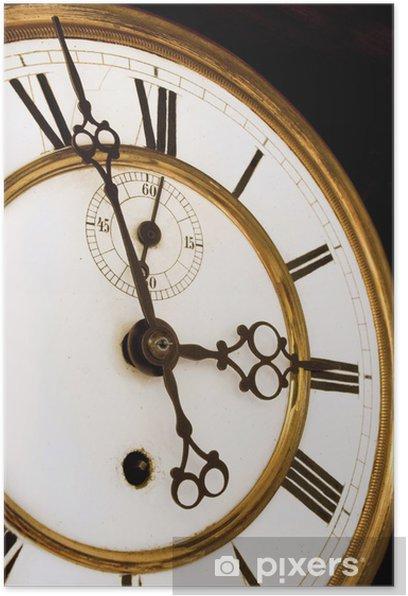 Poster Visage d'horloge antique - Styles