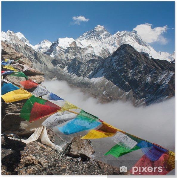 Póster Vista de everest del ri gokyo - camino hacia el campamento base del Everest - Temas