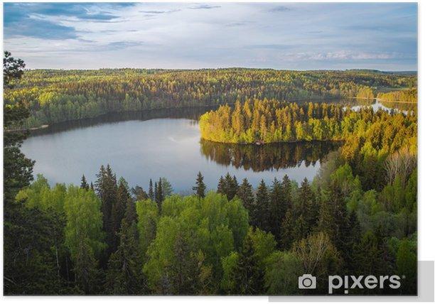 Póster Vista del lago en Finlandia - Temas