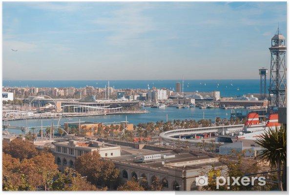 Poster Vista Panoramica Puerto de Barcelone - Paysages urbains