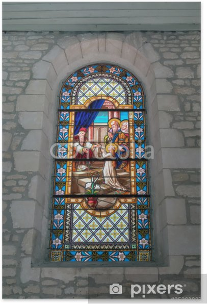 Poster Vitraux Eglise Dolus - Oléron - Religion