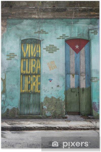 Poster Viva Cuba Libre - Amerika