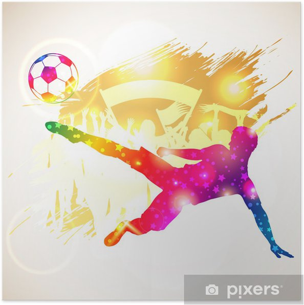 Poster Voetballer -
