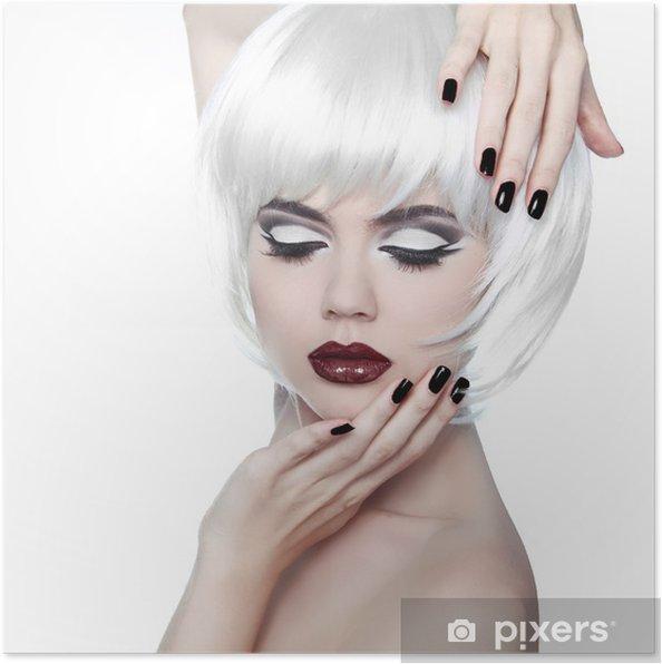 b54e9abb2d4 Poster Vogue Style Woman. Makeup och frisyr. Mode Snygg skönhet ...