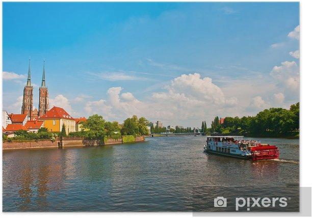 Poster Voile touristique sur la rivière Odra, Wroclaw, Pologne - Thèmes