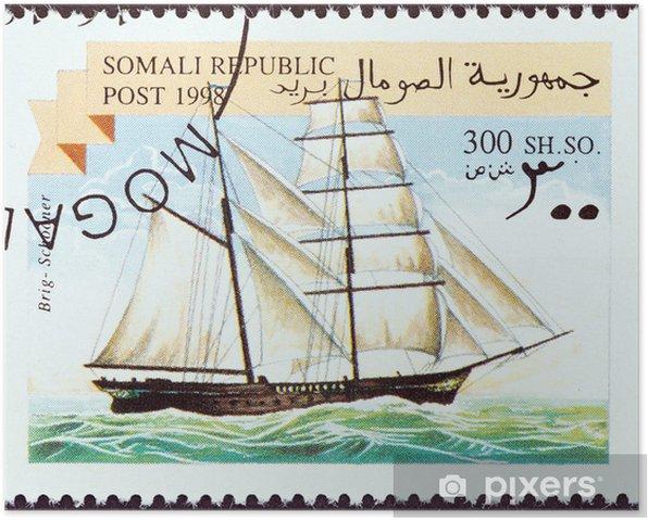 Poster Voilier Brig (Somalie 1998) - Bateaux