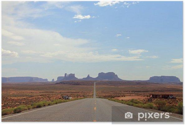 Poster Voir Distant de Monument Valley, Utah, USA - Amérique
