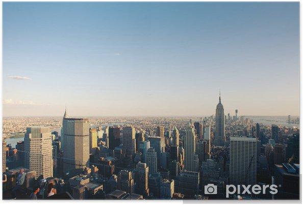 Poster Voir New York City Manhattan. - Villes américaines