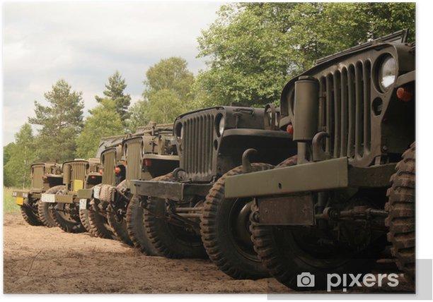 Poster Voitures américaines de l'armée - Temps