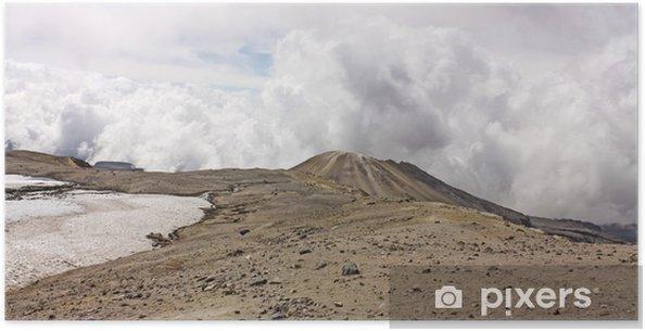 Poster Volcan Glacier Nevado del Ruiz, Los Nevados Parque Nacional Nat - Montagne
