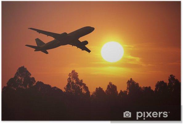 Poster Voler au coucher du soleil - Vacances
