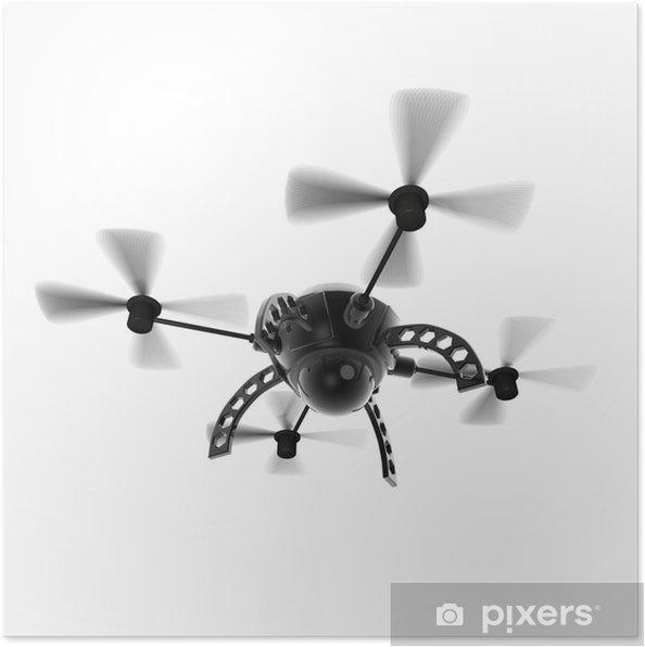 Poster Voler cam drone - Machines