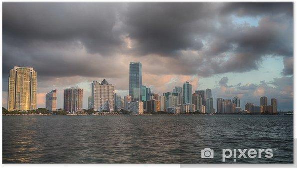 Poster Vue Dawn of Miami Skyline - Thèmes