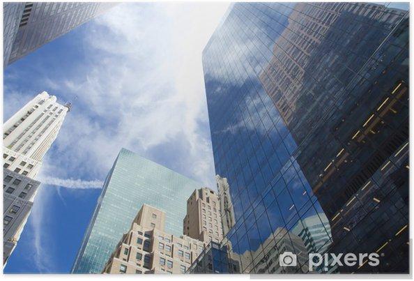 Poster Vue de gratte-ciel de Manhattan - Villes américaines