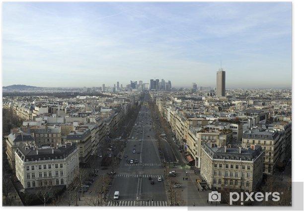 Poster Vue de La Défense DEPUIS Paris - Villes européennes