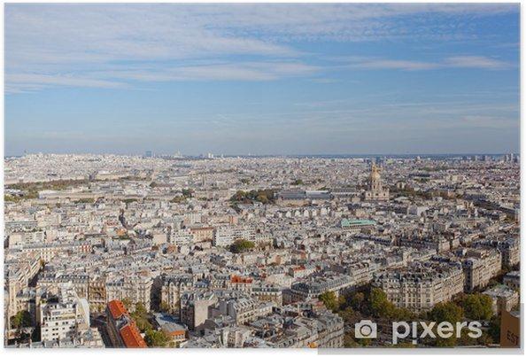 Poster Vue de Paris de la hauteur du vol d'oiseau - Paysages urbains