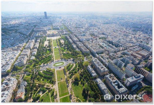 Poster Vue de Paris depuis la Tour Eiffel - Paysages urbains