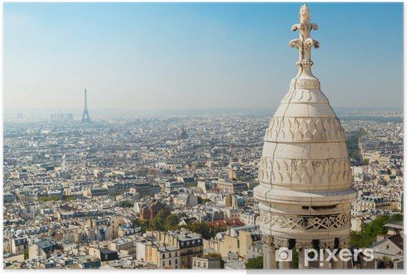 Poster Vue de Paris depuis le Sacré-Coeur - Paysages urbains