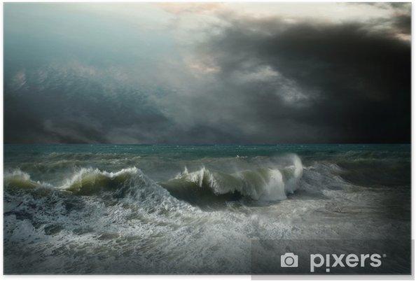 Poster Vue du paysage marin tempête - Thèmes