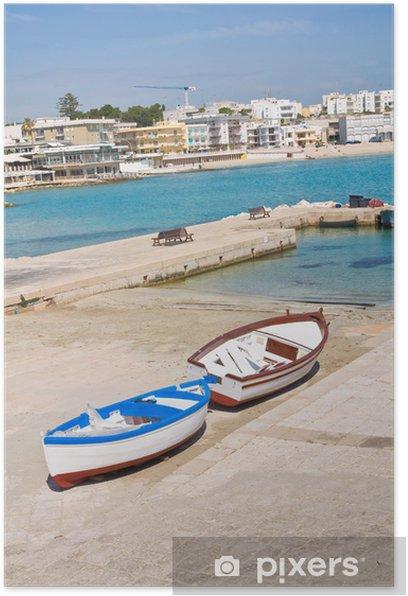 Poster Vue panoramique d'Otrante. Puglia. Italie. - Vacances
