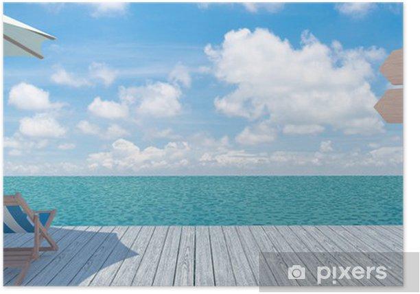 Poster Vue panoramique sur la mer - Art et création