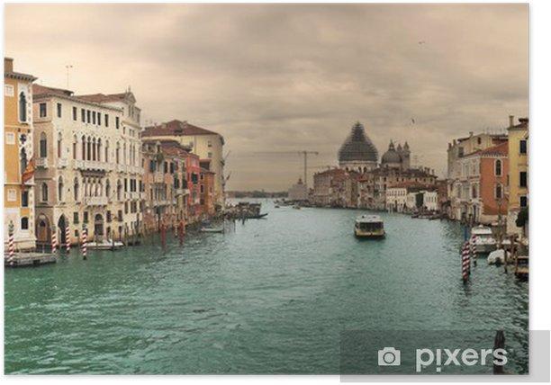 Poster Vue panoramique sur le célèbre Grand Canal. - Thèmes