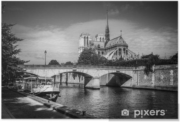 Poster Vue sur la Seine et Notre-Dame de Paris - Thèmes