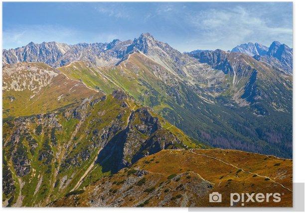 Poster Vue sur les montagnes des Tatras, Pologne. - Thèmes