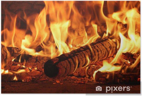 Poster Vuur - Texturen