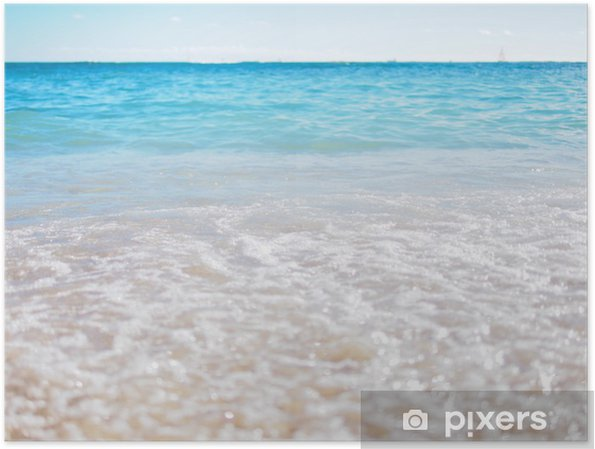 Póster Waikiki Beach - Agua