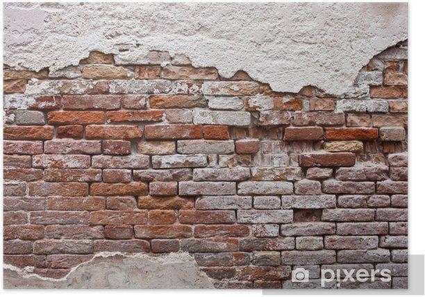 Poster Wall brick -
