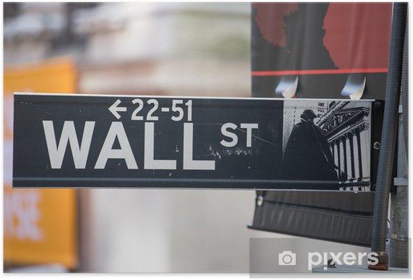 Poster Wall Street Connexion, New York - Villes américaines