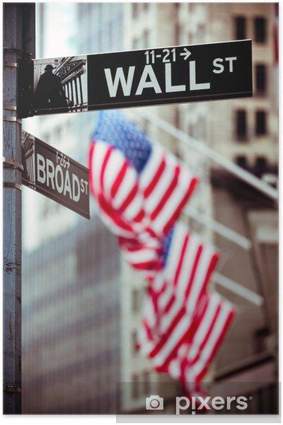 Poster Wall Street New York - Amerikanska städer