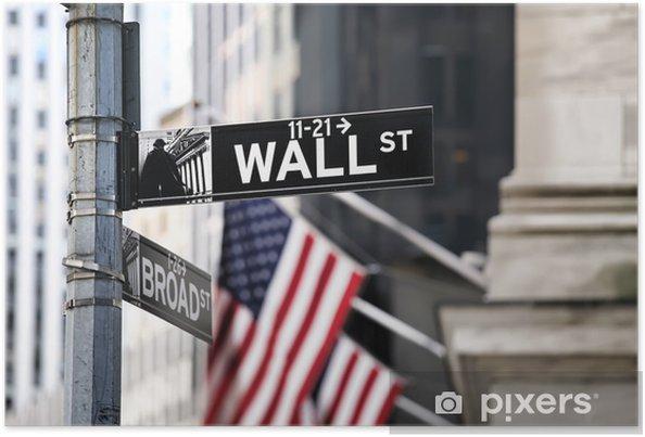 Poster Wall Street - Amerikanska städer