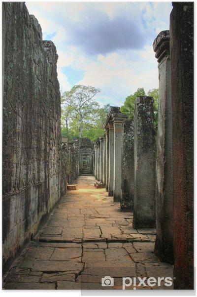 Poster Wat Bayon (Angkor Wat) - Siam Reap - Cambodja / Kambodscha - Monumenten