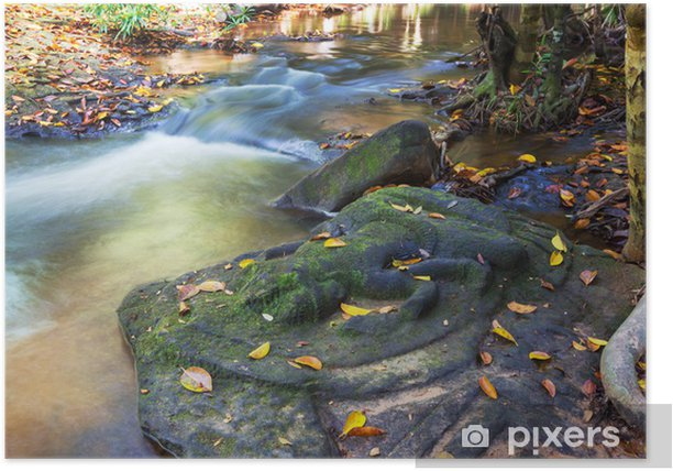 Waterfall in Cambodia Poster - Asia