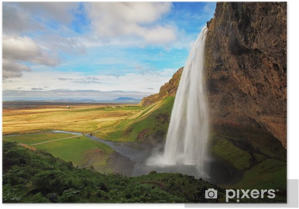 Waterfall in Iceland - Seljalandsfoss Poster - Themes
