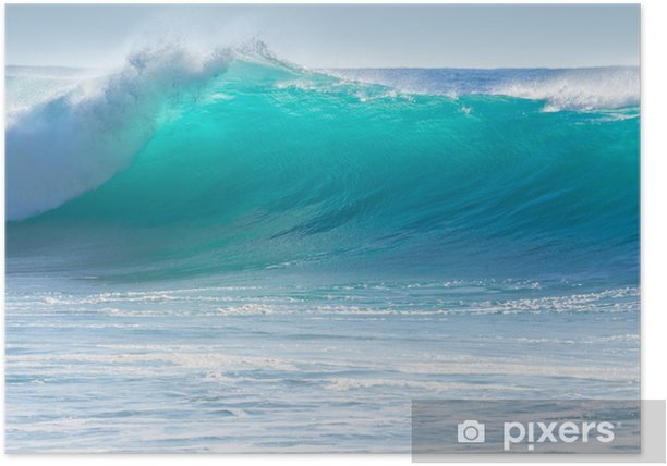 Waves breaking on the shore of Madeira Poster - Themes
