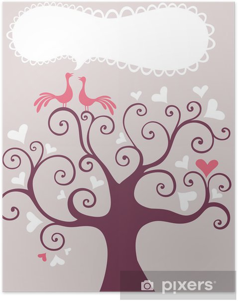 wedding tree Poster - Happiness