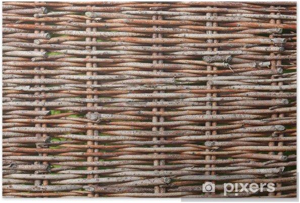 Poster Weidengeflecht-Textur - Textures