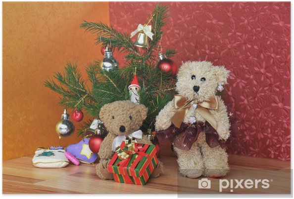 Teddy Weihnachten.Weihnachten Bei Den Teddybären 1 Poster