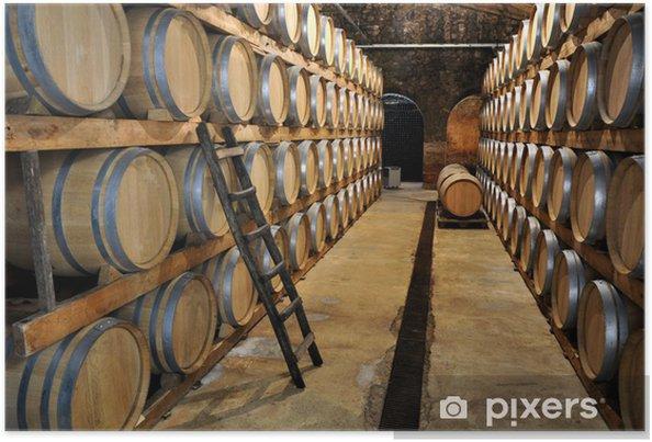 Poster Weinkeller Wein Weinfässer - Industrie lourde