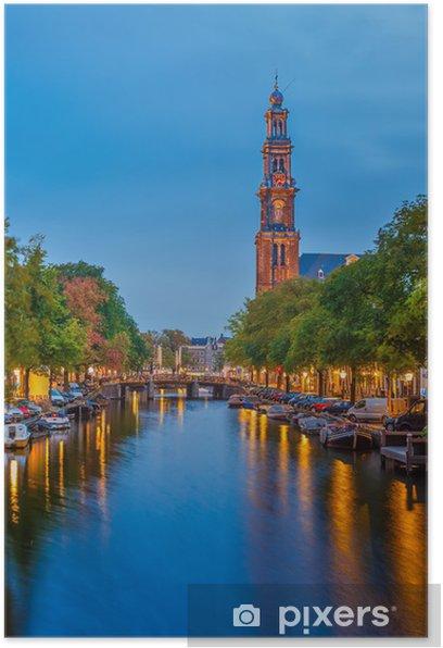 Western church in Amsterdam Poster - European Cities