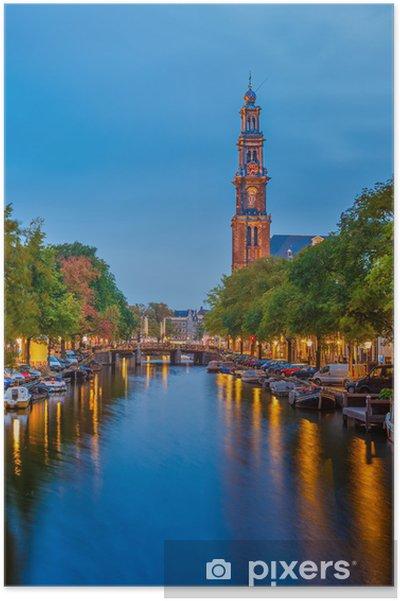 Poster Westerse kerk in Amsterdam - Europese steden