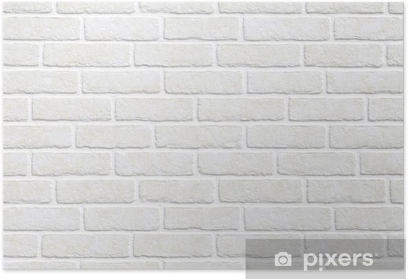 white brick wall background Poster - Themes