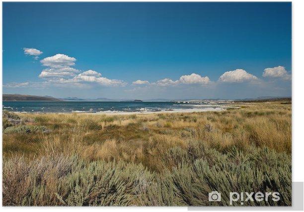 White clouds over Mono Lake, California Poster - America