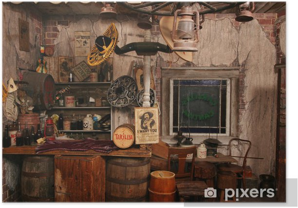 wild west interior Poster - Private Buildings