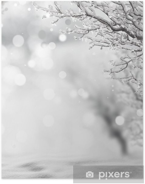 winter background Poster - Themes