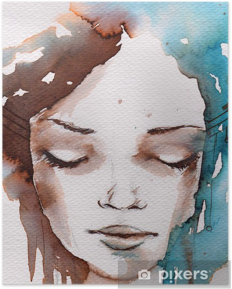 Poster Winter, koude portret - Stijlen